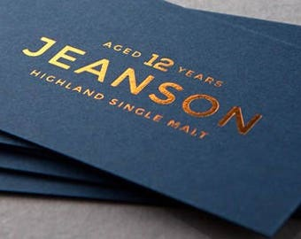 Gold foil business cards with silk laminate makeup artist navy blue cards with foil 100 business cards colourmoves