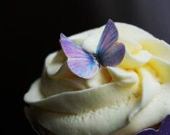 The Original EDIBLE BUTTERFLIES-  small lavender - Cake & Cupcake toppers - Food Decorations