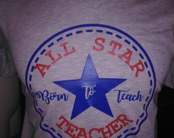 all star teacher shirt