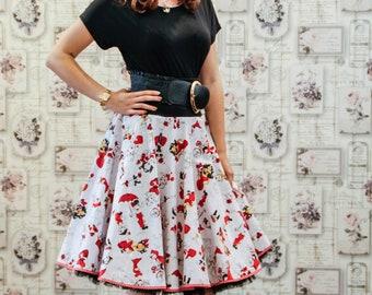 Cotton skirt 50s style