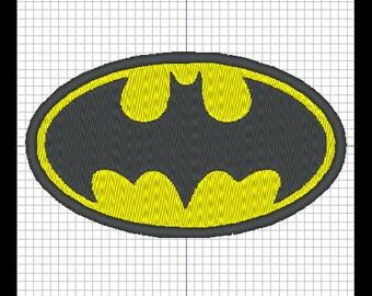 BATMAN LOGO embroidery design