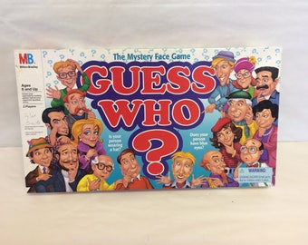 Guess Who Game, The Mystery Face Game, Vintage Board Game, Family Game night, 1990s Milton Bradley, Fun Games for Children, 1990s Games