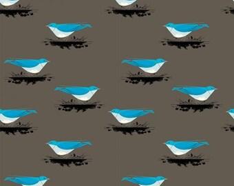 Mountain Blue Bird Knit 100% Organic Cotton by Birch