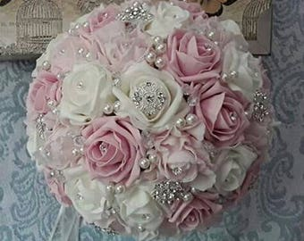 Jewelled bridal bouquet
