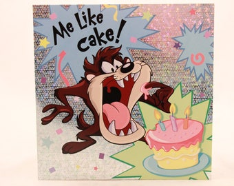 NEW! Looney Tunes Birthday Greeting Card by Sunrise. Single Card and Envelope. TAZ