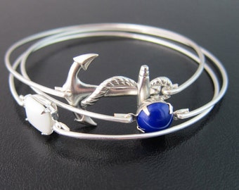 Beach Wedding Jewelry, Ocean or Nautical Wedding, Beach Bridal Jewelry, Bracelets for Bride or Beach Bridesmaid Gifts