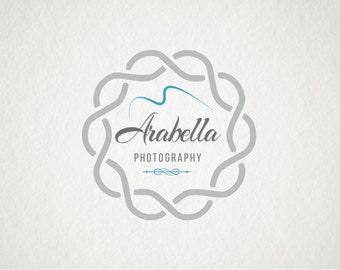 Photography logo Custom Premade Logo Watermark Design Scroll Logo Text Logo Shop Logo