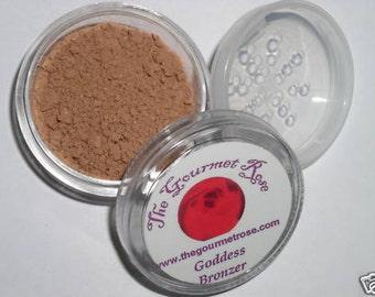 GODDESS BRONZER Pure All Natural Mineral Sheer Bare Makeup Cover Minerals Xl Jar Cheek Highlighter