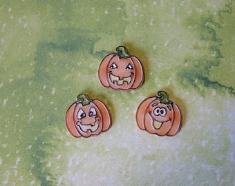 Pumpkin Faces set of 3