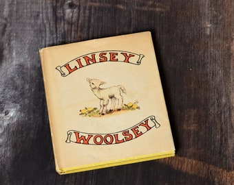 Linsey Woolsey-Tasha Tudor-Oxford Press-1946-First Edition-Vintage Children's Story Book-A Calico Book