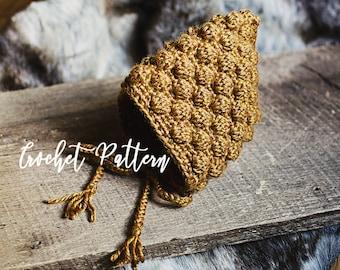CROCHET PATTERN | The Jovie Pixie Bonnet | Pixie Hat | Baby Bonnet | Baby Hat | Baby Photography Prop
