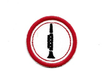 "2"" Clarinet Merit Badge, Patch! Any Color combo! Custom Made!"