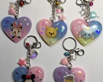 Kawaii Puffy Heart Keychain/Bag Charms