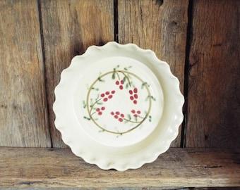 Cranberry Deep Dish Pie Plate