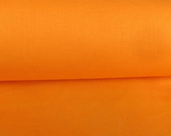 Orange plain 100% cotton fabric