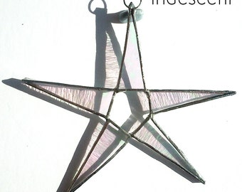 Iridescent Stained Glass Star Suncatcher