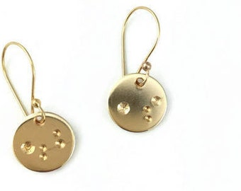Gold Moon Earrings - Astronomy Gift - 14k Gold Filled Earring Gift For Her