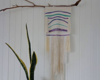 Handwoven Weaving Wall Hanging Bohemian Textile  Wall Decor Textile Art