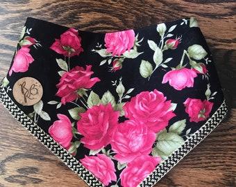 Rosa bandana with gold trim