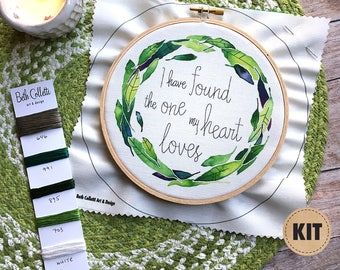 I Have Found the One, Beginner Embroidery Kit, Gift for Newlywed Couple, Song of Solomon Embroidery Pattern, Craft Kits, Cotton Anniversary