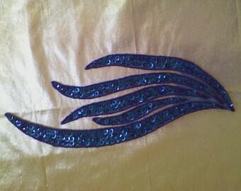 12) Blue Sequin Applique