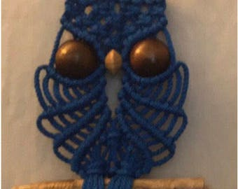 Macrame Owl wall decor, customize your own, pick your own colors