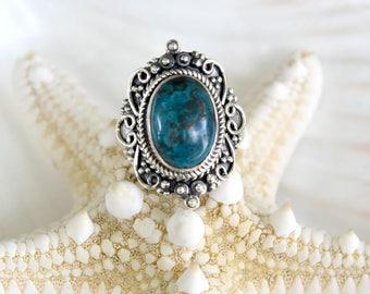 Chrysocolla Ring - Size: 8