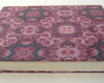 Fabric Covered Textbook, Flower Fabric Covered Book, Repurposed Textbook, Book Used For Home Decor, Decorative Book, Book Decor