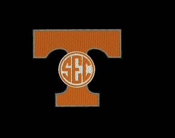 Tennessee football machine embroidery design