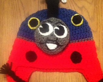 Crochet Thomas the Train Hat