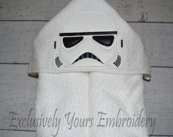 Galaxy Soldier Children's Hooded Towel - Baby Towel - Childrens Hood Towel - Bath Towel - Beach Towel - Personalized Towel - Character Towel