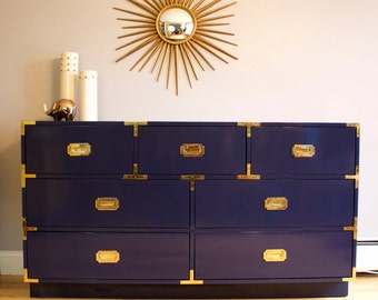 Lacquered Campaign Dresser - Custom Built for You