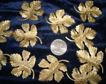 Goldtone Metal Maple Leaves