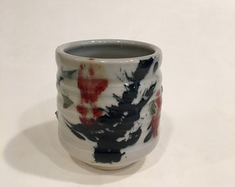 One Handmade Tea cup, Ceramic Cup, Yunomi, TCMCH18WRB17