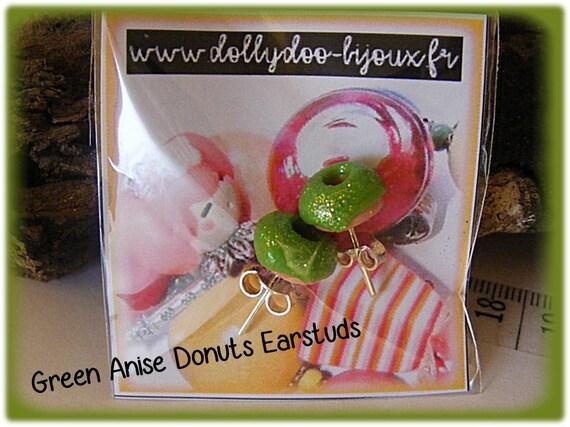 Puces Donuts Vert Anis Pailleté