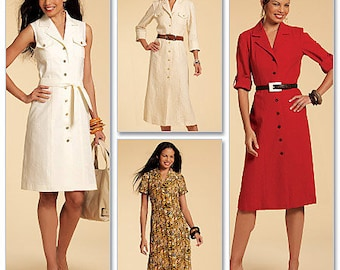 McCall's M5847 Size 6-12 Misses' Shirtdress in 3 Lengths Sewing Pattern / Uncut/FF