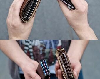 Best Minimalist Wallet, Personalized Leather Wallet, Leather Wallet, RFID Wallet - Original NERO Wallet