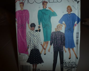 Vintage McCalls Pattern 2884 Misses'  Top  Skirt and  Pants  Size 16-18-20