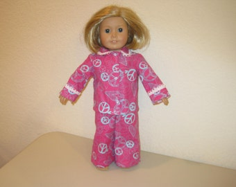 """Pajamas to fit 18"""" American Girl Dolls"""