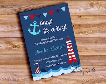 Nautical Baby Shower Boy or Girl