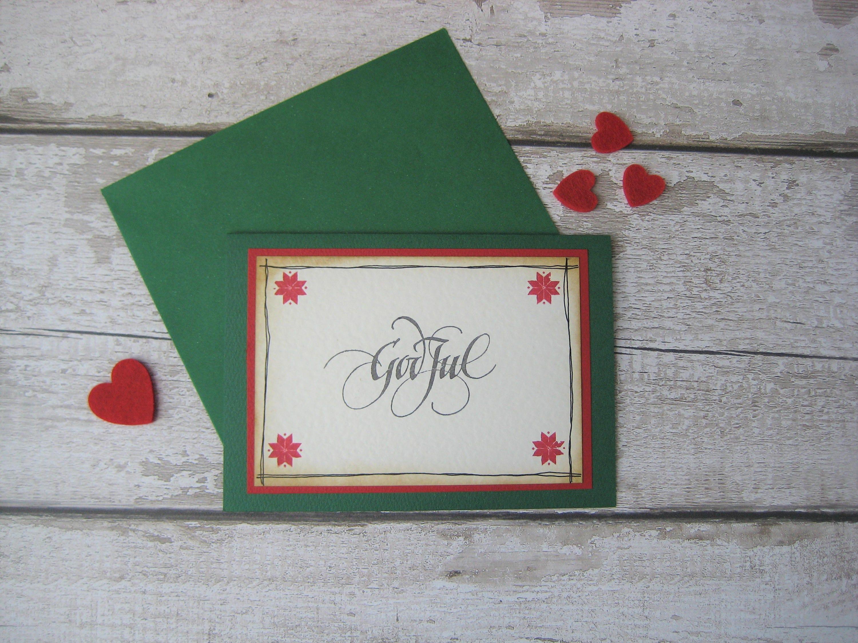 Green god jul norwegian swedish danish christmas card zoom m4hsunfo