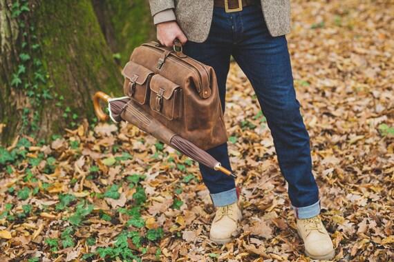 Leather Doctor bag, Metal framed Doctor Bag, Office Bag, Travel Bag, Weekender Bag, overnight Bag, Man Briefcase Top Handle