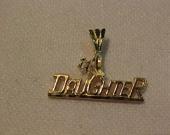 Number 1 Daughter-10k yellow gold-.75 grams-FREE SHIPPING To USA or Canada
