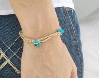 Hamsa bracelet lucky charm evil eye came jewelry durable Daily use by RedBracelet on Etsy
