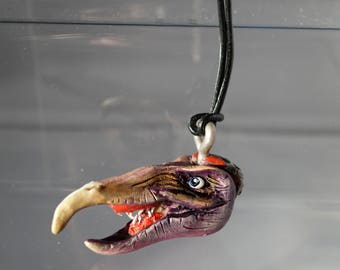 A The Dark Crystal Skeksis monster hand made pendant made to order!
