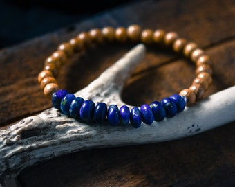 Mens Lapis Lazuli Bracelet Mens Bracelet Mens Beaded Bracelet Yoga Jewelry Gift for Men Mens Gift For Him Mens Jewelry Mens Bracelet