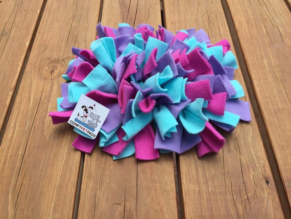 Small Snuffle Mat, Rooting Rug, Dog Puzzle, Cat Snuffle Rug, Pig Enrichment Toy, Nose Work Mat, Finished Size 11x10