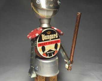 Royal Can-Guard - Assemblage Art Robot Vanguard Sculpture