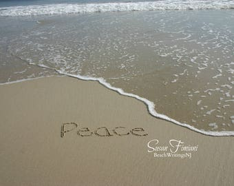 Peace Sand Beach Writing  Fine Art Photo