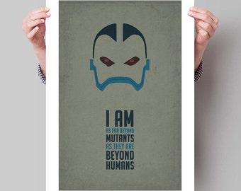 "X-MEN Inspired Apocalypse Minimalist Movie Poster Print - 13""x19"" (33x48 cm)"